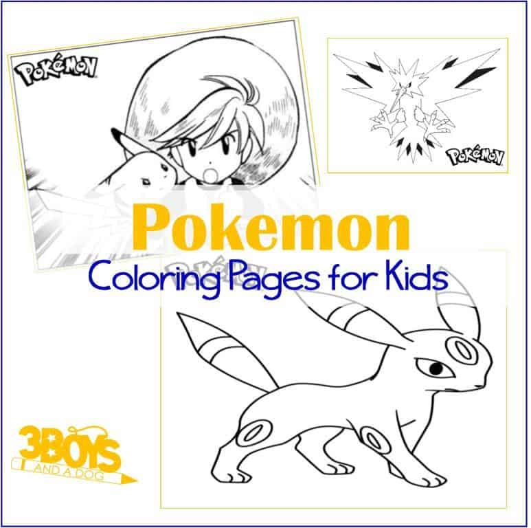 Pokemon Go coloring pages for boys (and girls)
