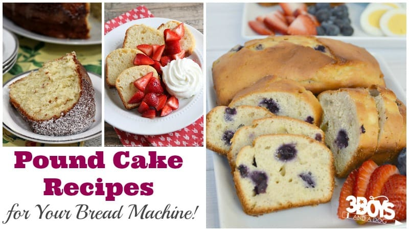 Delicious Bread Machine Pound Cake Recipes