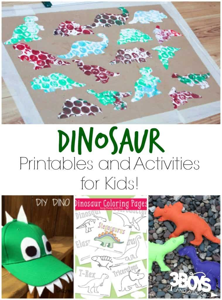Dinosaur Printables and Activities