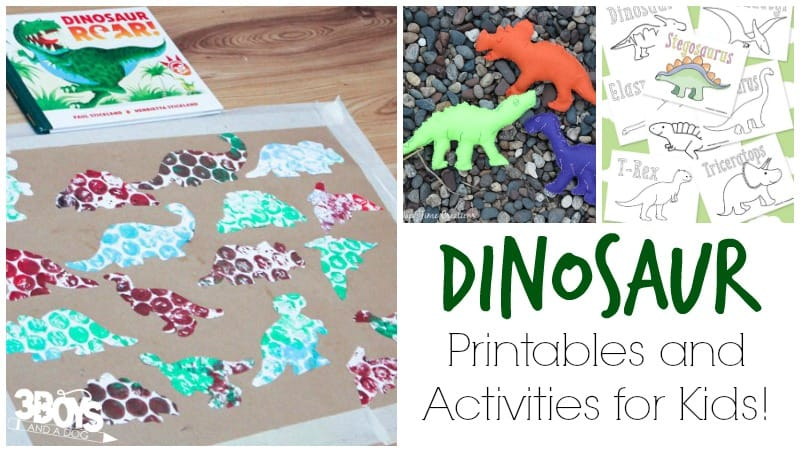 Dinosaur Printables and Activities for Kids