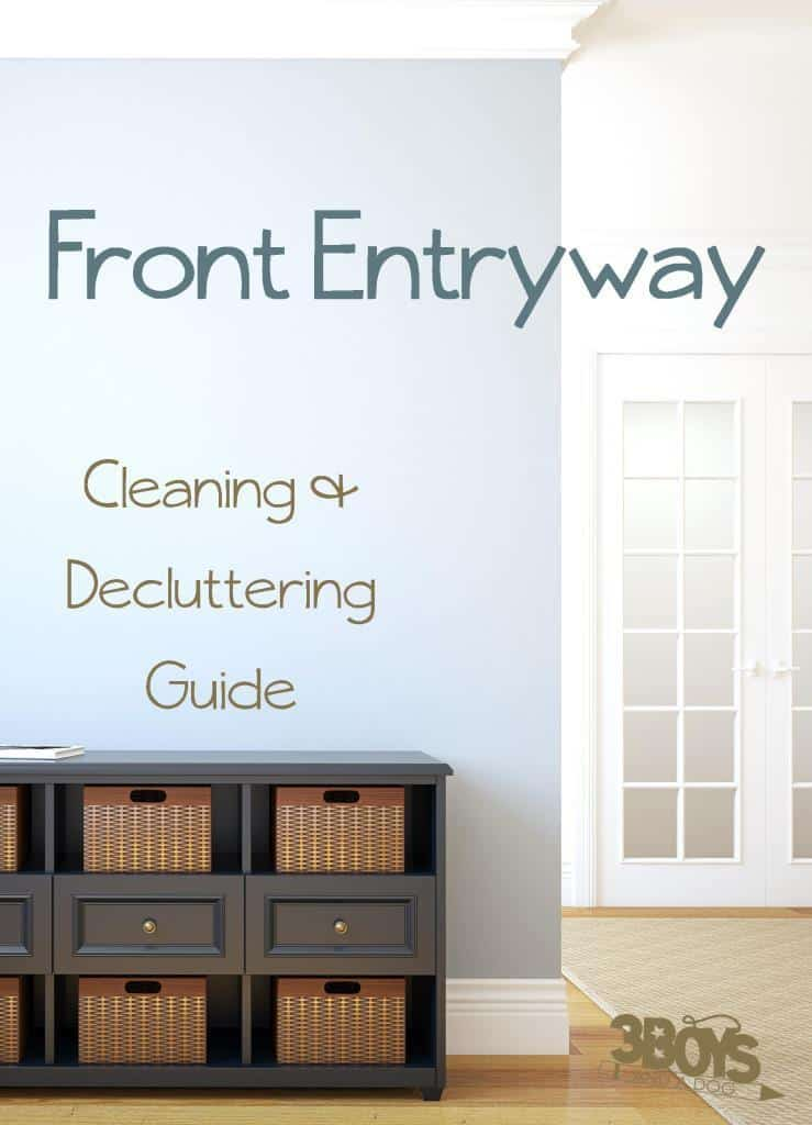 Front Foyer Entryway Cleaning and Organizing Tips