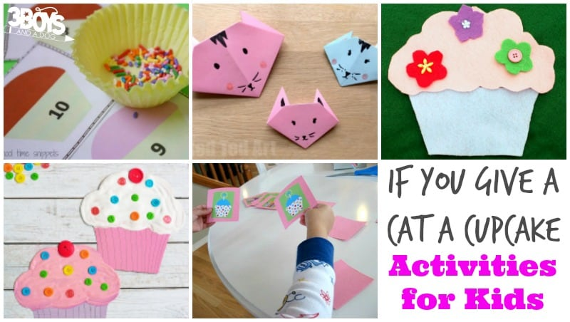 If You Give a Cat a Cupcake Activities for Kids