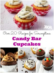 Over 20 Scrumptious Candy Bar Cupcakes