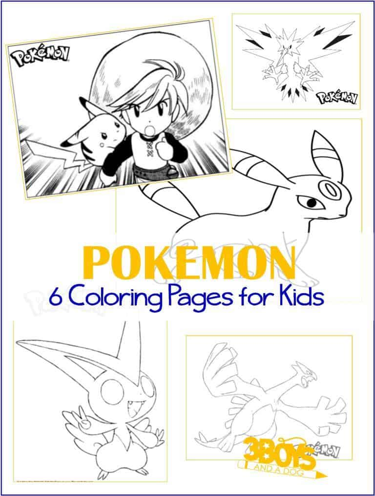 Keep the little ones entertained with these Pokemon Go Coloring Pages while the big kids are hunting!