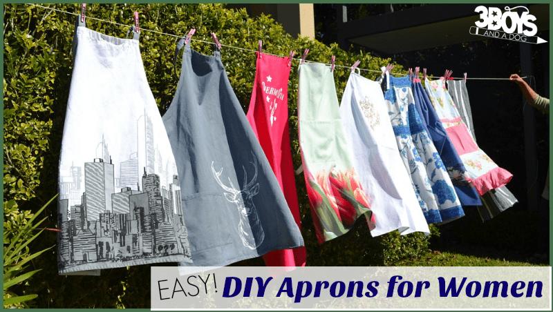Simple DIY Aprons for Women