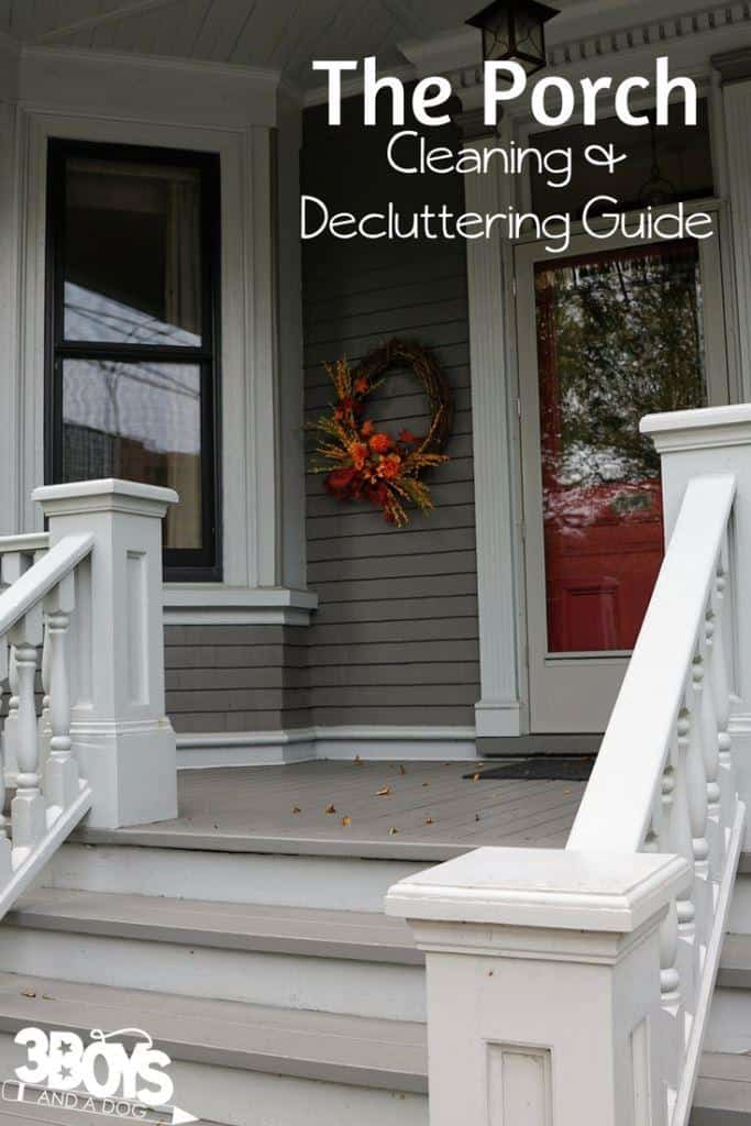 The porch cleaning and decluttering guide
