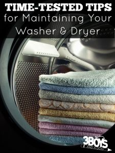 Tips for Maintaining Your Washer and Dryer