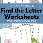find the letter ocean animals worksheets