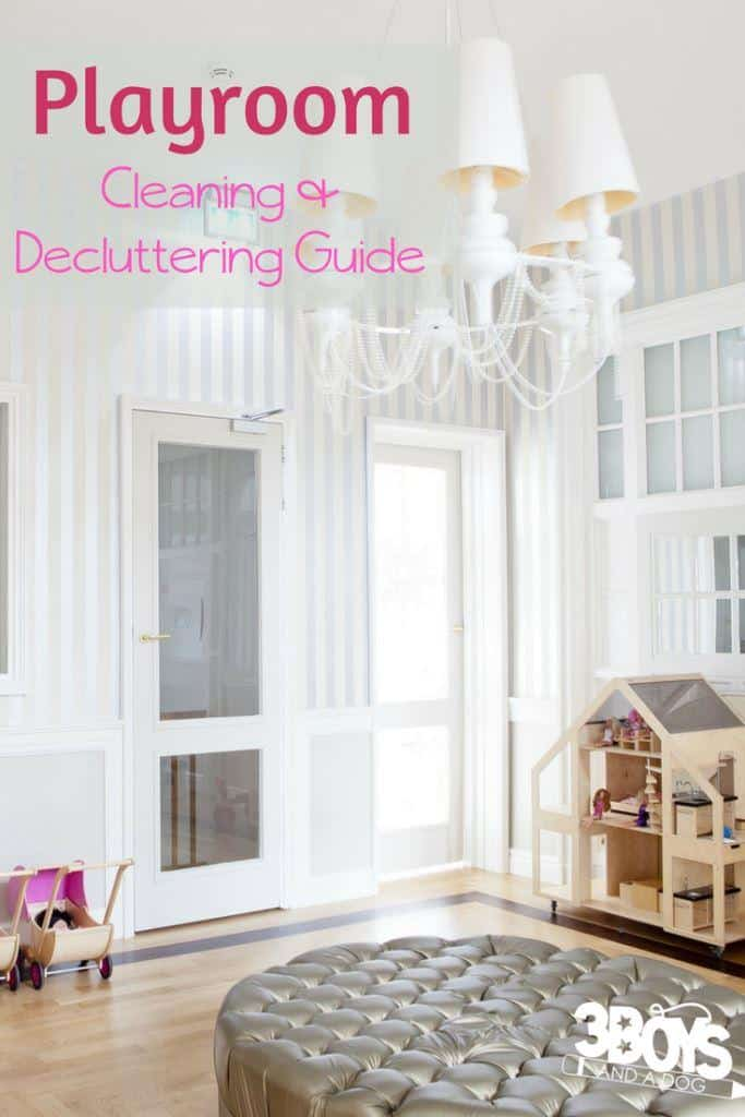 playroom cleaning and decluttering guide