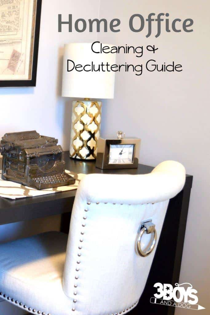 the home office cleaning and decluttering guide