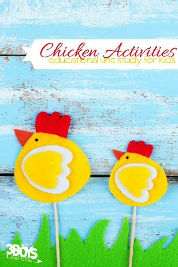 National Chicken Month Unit Study