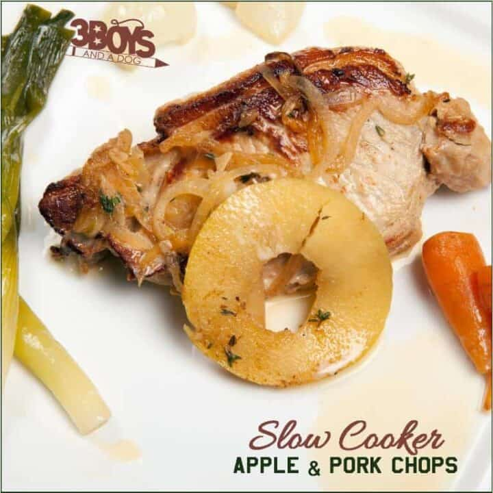 slow cooker apple and pork chops