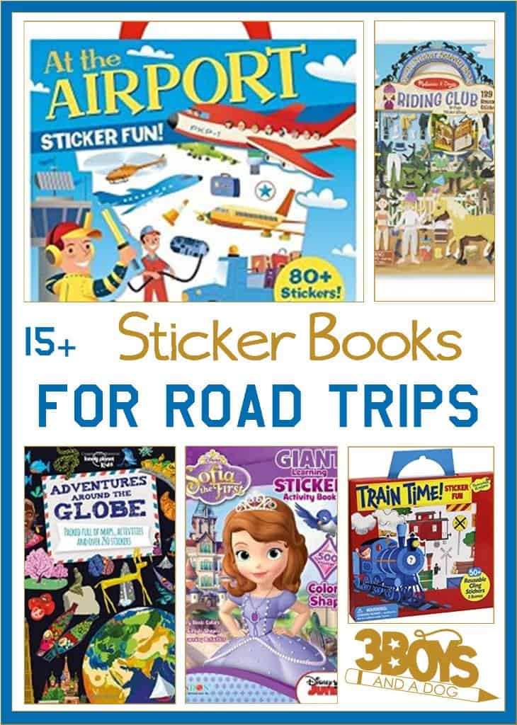 Sticker Activity Books for Road Trips