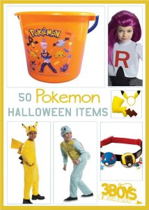 50 Pokemon Inspired Halloween items that allow you to transform into a trainer or just one of the fun characters.