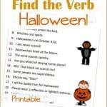 Halloween Printables:  Finding Verbs