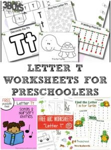 Letter T Worksheets for Preschool