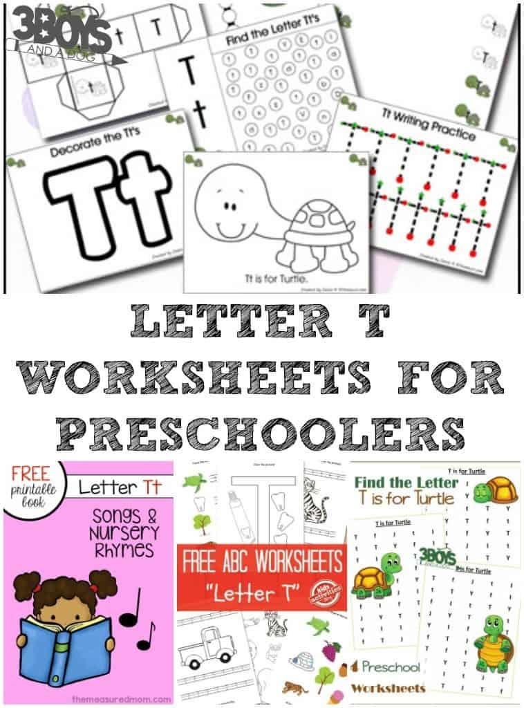 Letter T Worksheets for Preschool