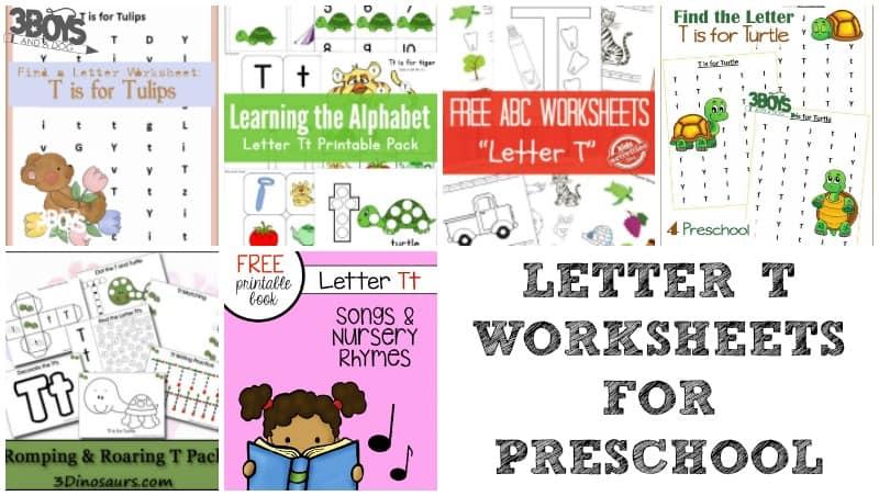 Letter T Worksheets for Preschoolers