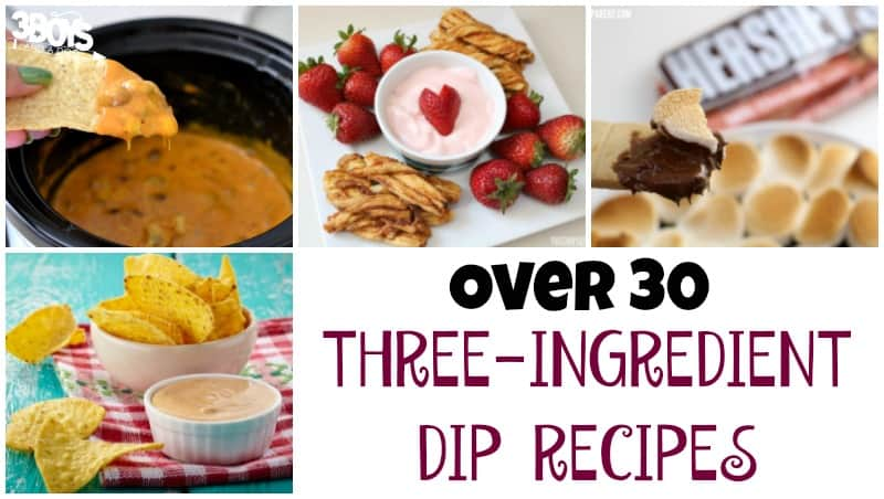 Over 30 Three Ingredient Dip Recipes