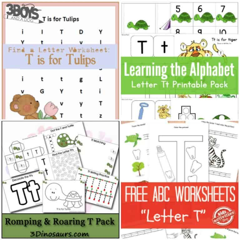 Printable Letter T Worksheets for Preschool