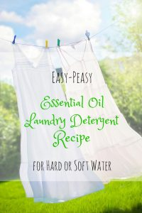 essential oil laundry detergent recipe