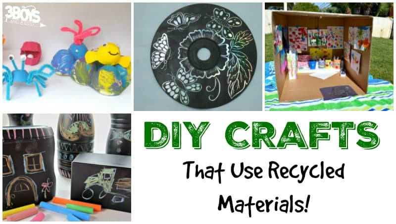 Diy crafts using recycled materials 3 boys and a dog 3 for Crafts using recycled materials