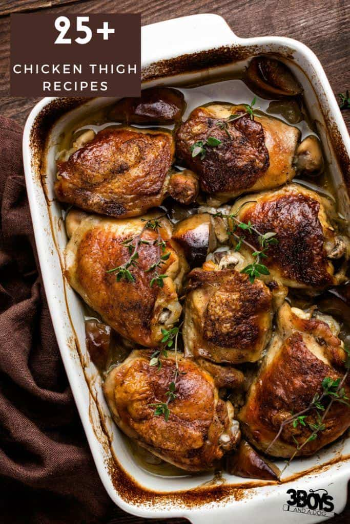 Over 25 easy recipes with chicken thighs