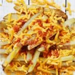 Bacon and cheddar oven roasted steak fries recipe