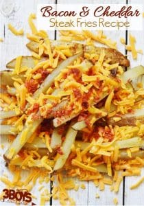 Bacon and Cheddar Steak Fries Recipe
