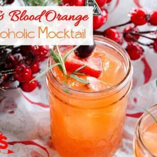 Blood Orange Mocktail Recipe with Rosemary