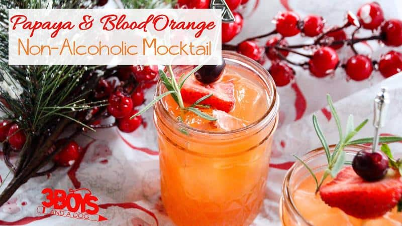 Blood Orange Mocktail Recipe with Rosemary
