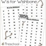 Find the Letter W is for Wishbone