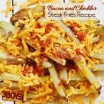 Oven Steak Fries with Bacon and Cheddar