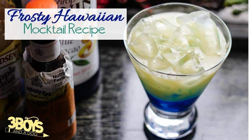 Non Alcoholic Blue Cocktail Drink Recipe for Children
