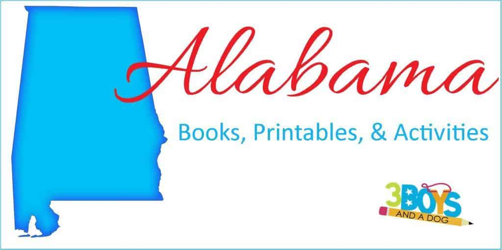 ALabama books printables crafts and activities for kids