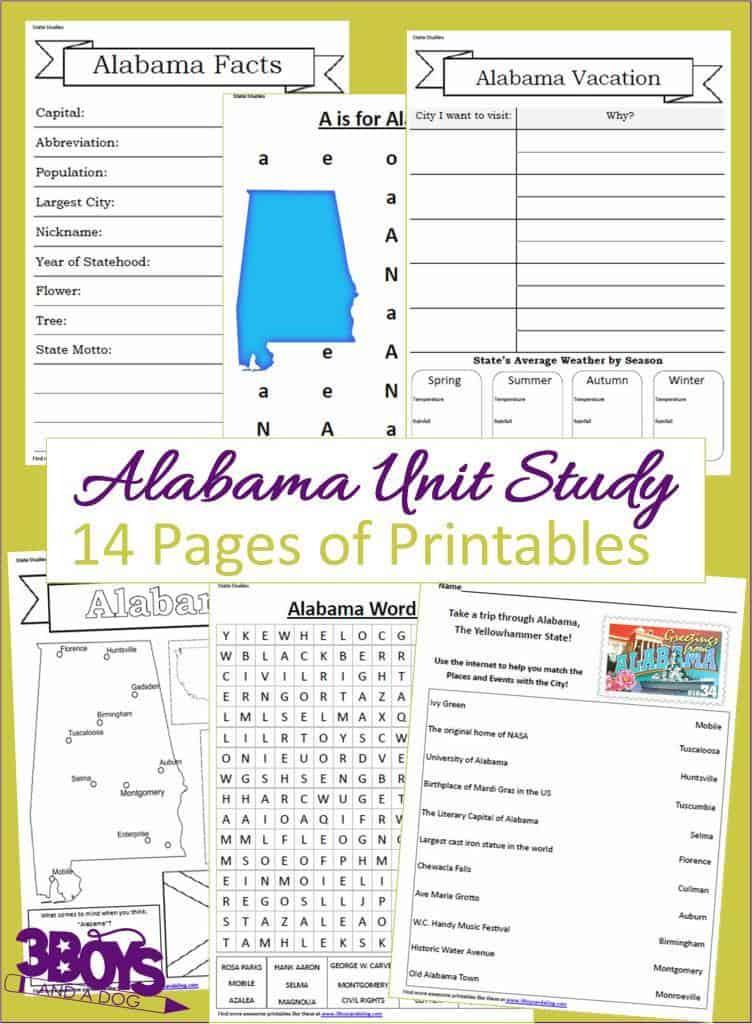 Alabama State Unit Study