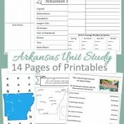 Arkansas Unit Study 14 pages of printables