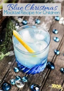 Blue Christmas Mocktail Recipe