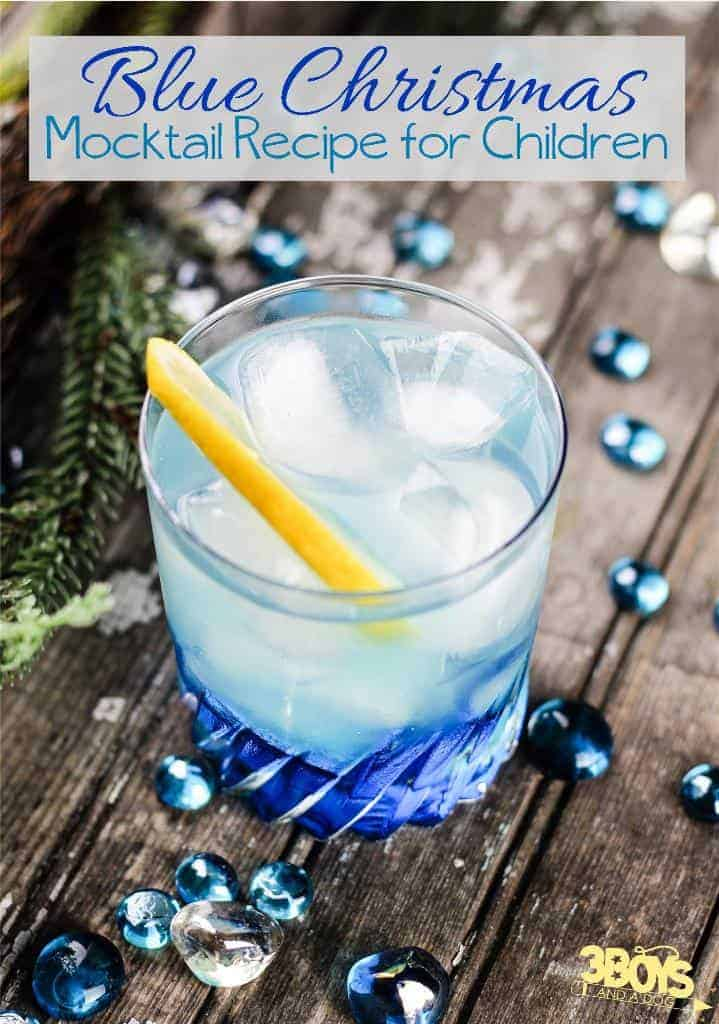 Blue Christmas Mocktails for Kids