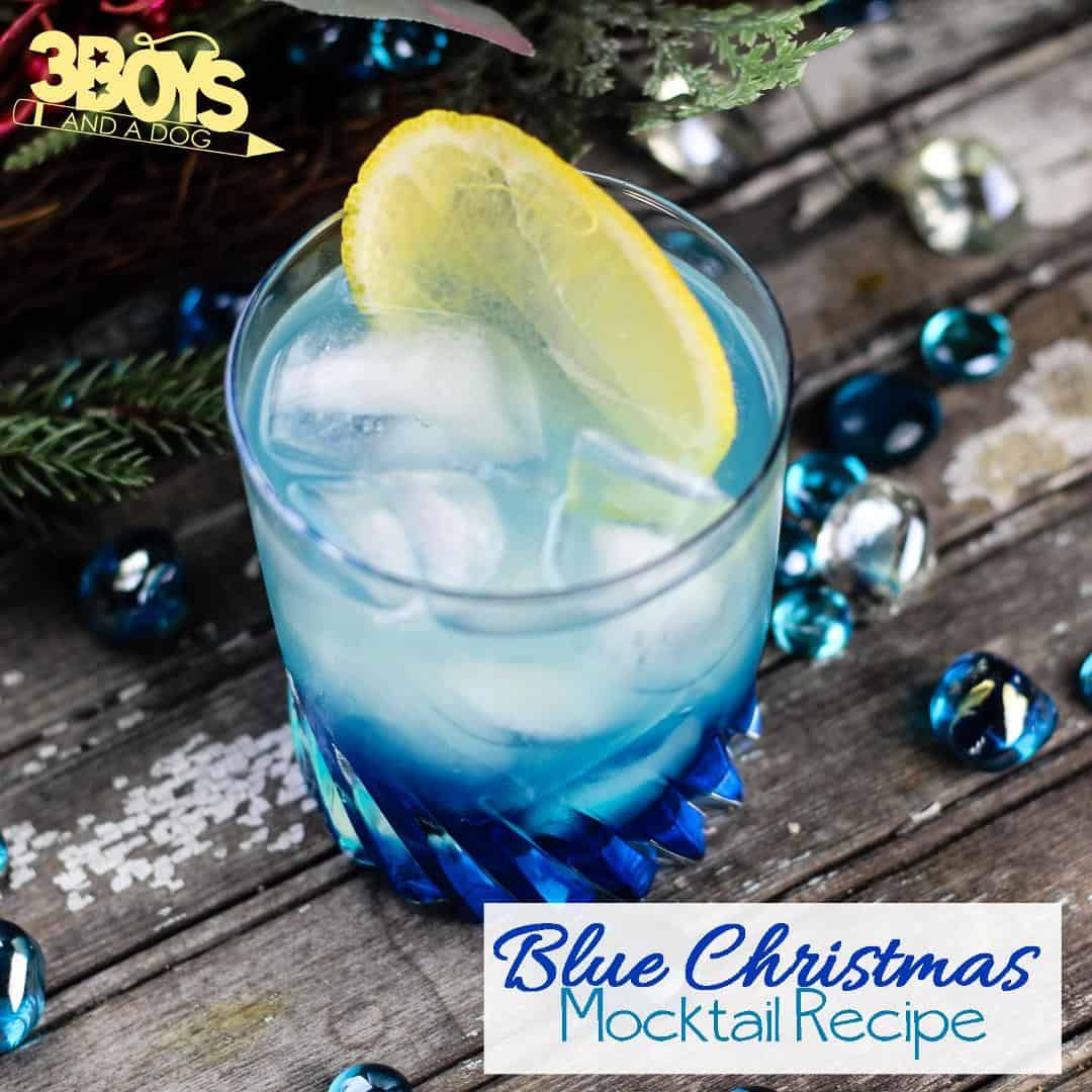 Blue Christmas Mocktail Recipe