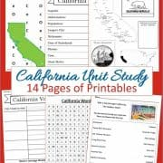 California Unit Study 14 pages of printables