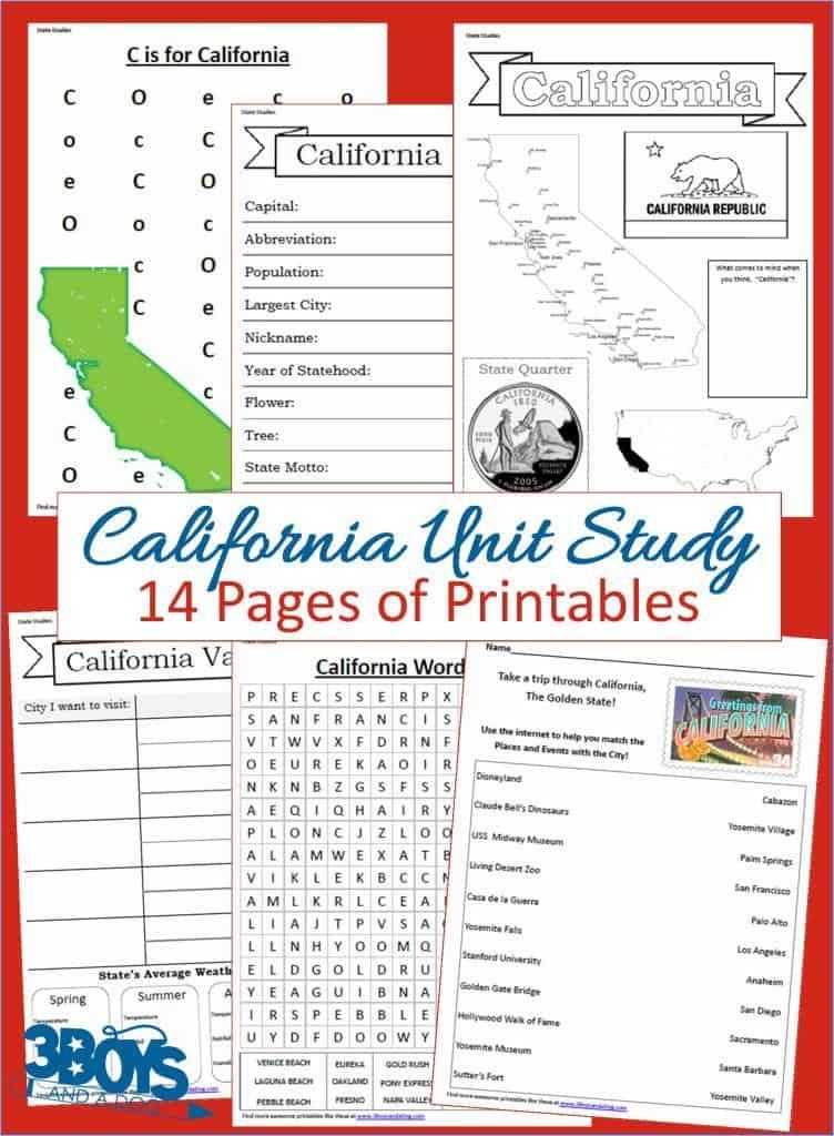 California State Unit Study