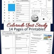 Colorado Unit Study 14 pages of printables