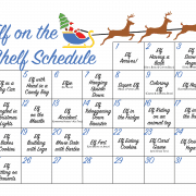 Blue Elf on the Shelf Printable Activity Calendar