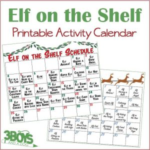 Elf on the Shelf Printable Activity Calendar
