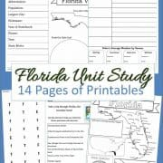 Florida Unit Study 14 Pages of Printables