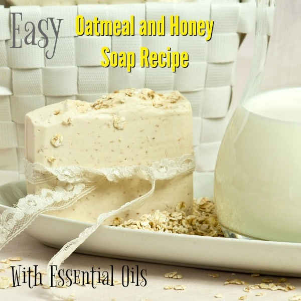 Soap doesn't have to be hard to make, especially if you use a soap base! Use this essential oil soap recipe to make a healthy, great-smelling oatmeal and honey soap recipe that your family will love!