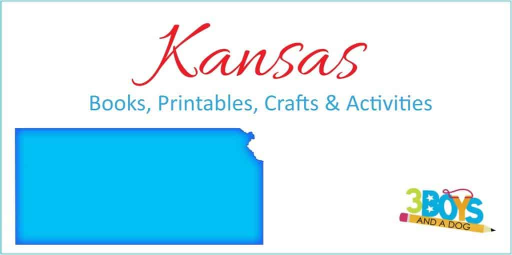 Kansas State Unit STudy Books Crafts Printable and more