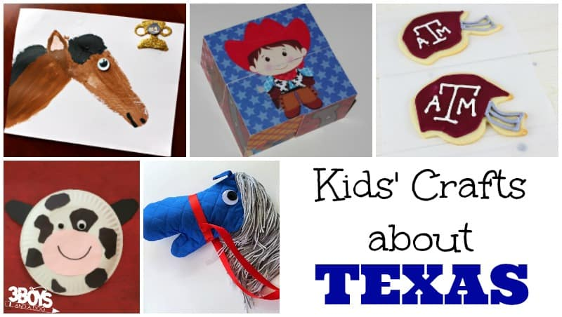 Kids' Crafts about Texas
