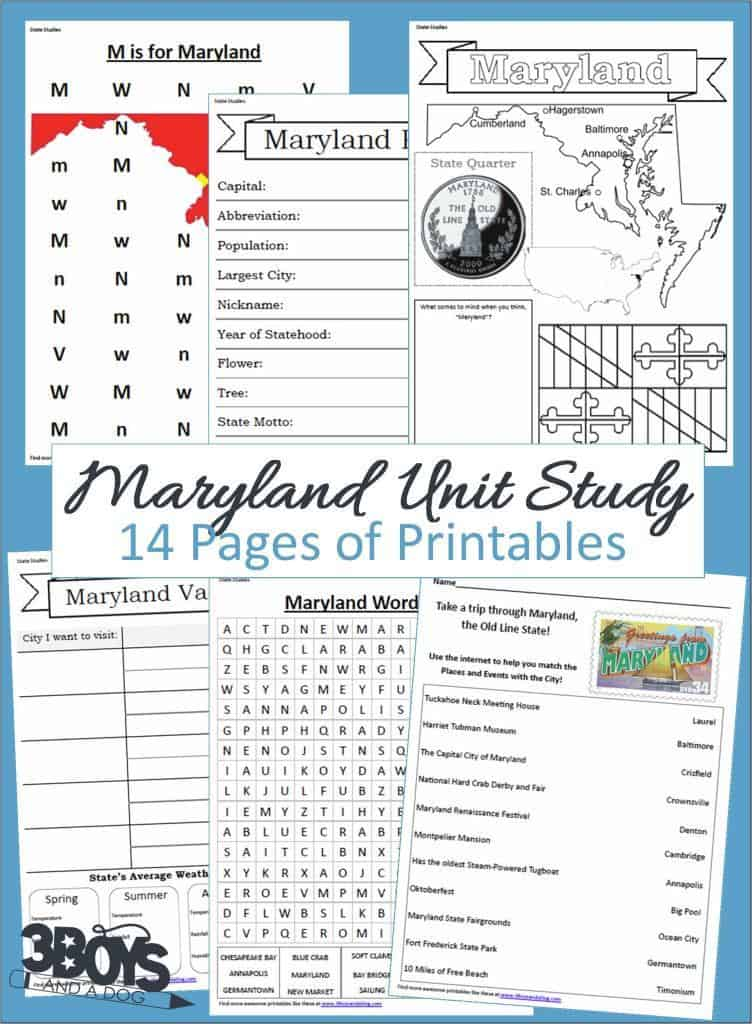 Maryland State Unit Study